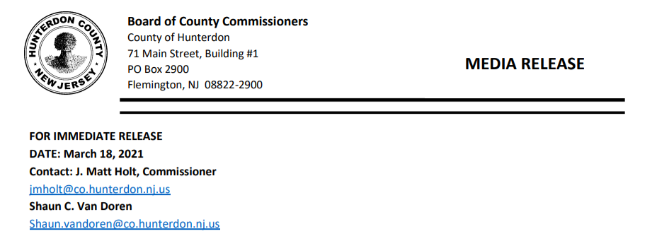 Media Release: Commissioner Matt Holt, Commissioner Shaun Van Doren