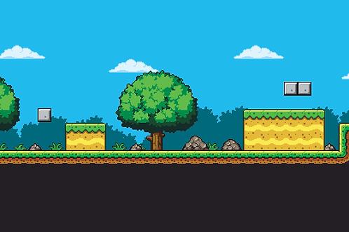 2D Pixel Art Field Tile