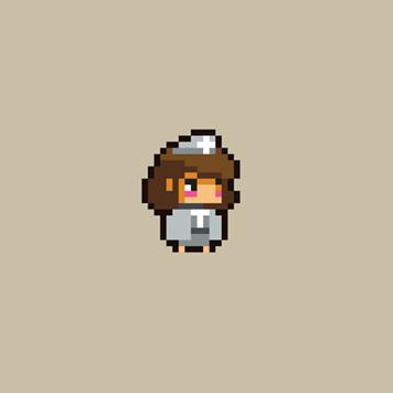 2D Pixel Healer Hero