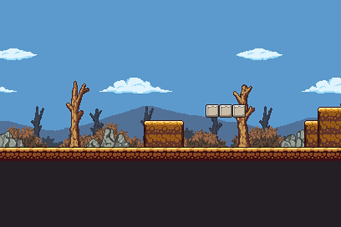 2D Pixel Art Dryland Tile
