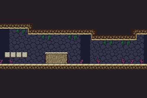 2D Pixel Art Cave Tile