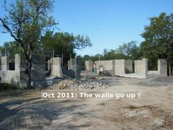 Walls go up