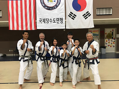 TAC Chairman Master Y. D. Kim, the Ince Family, Choong Jae Nim C. S. Kim
