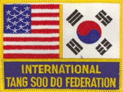 International Tang Soo Do Federation Flag Patch
