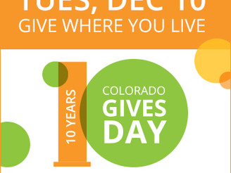 Colorado Gives Day is Almost Here: Please Include BCAP in Your Charitable Giving!