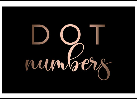 USDOT Number (DOT Number Only)