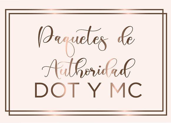 Paquetes de autoridad de número DOT y MC