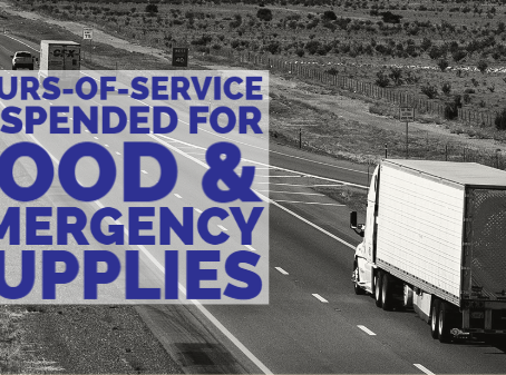 FMCSA's Expanded National Emergency Relief