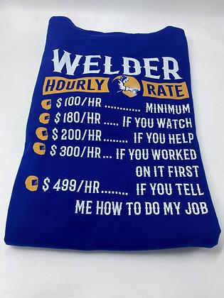 Welder Hourly Rate Hoodie
