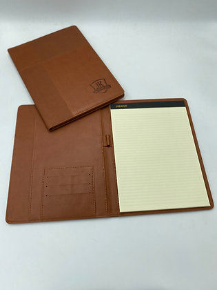 JK Textured Leather-Like Padfolio