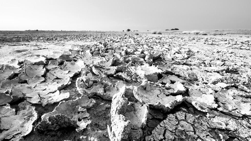 Trockenheit, Nxaipan, Botswana