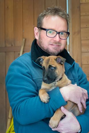 Mit meinem Diensthund Dartos