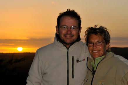 Maya und ich in Afrika
