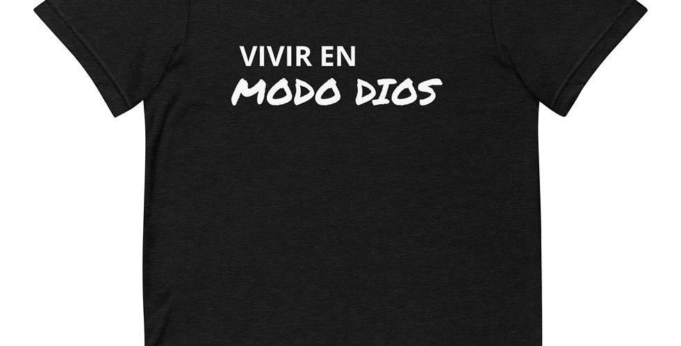 Camiseta Unisex Negra MODO DIOS