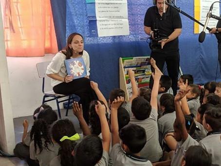 María de los Ángeles Elton y su aporte para las clases virtuales de los escolares de nuestro país.