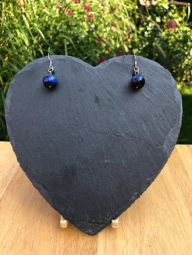 Blue Tiger's Eye earrings