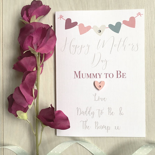 Heart Mummy to Be - Mother's Day Card