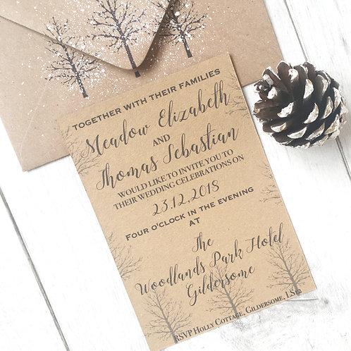 SAMPLE - Rustic Wedding Invitation