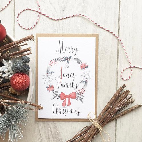 Family Name Christmas Card