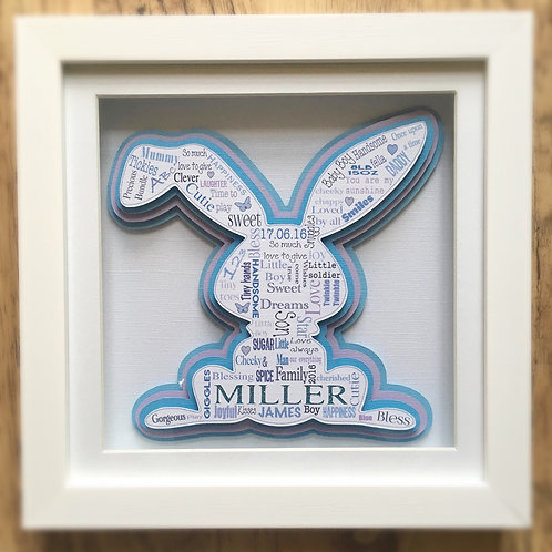 Baby  Boy Bunny Gift Frame