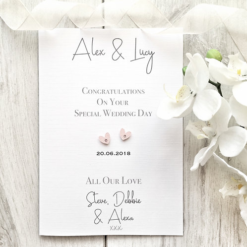 Special Wedding Day - Personalised Card