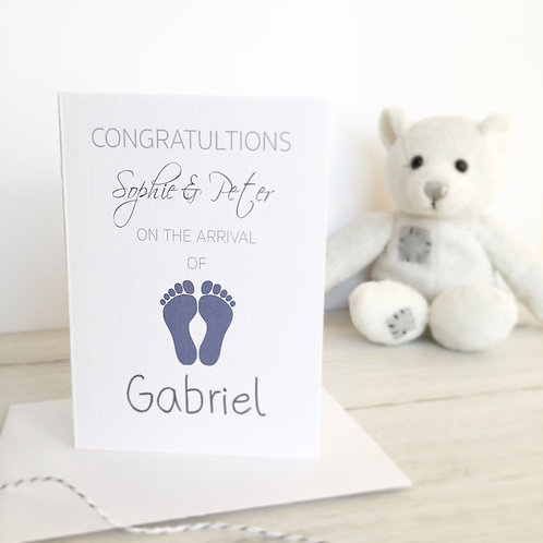 New Arrival Baby Boy Card