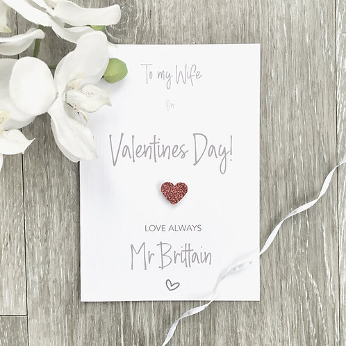 Personalised Valentine's Day Card for Wife