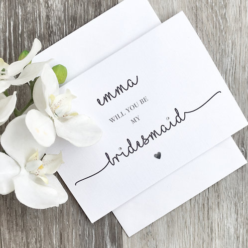 Will You Be My Bridesmaid Proposal Card