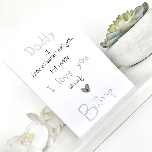 Card to Daddy to Be - From the Bump