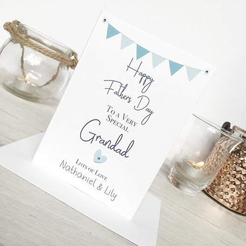 Grandad Card - Personalised Father's Day Card