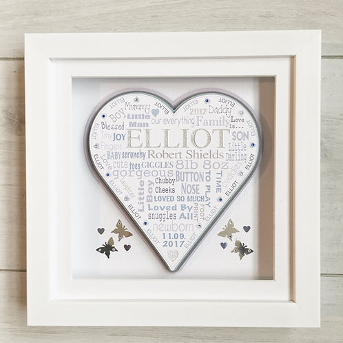 Boy Personalised Gift Frame