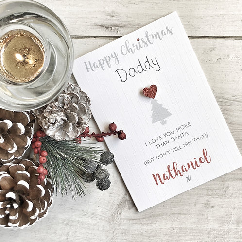 Daddy's Personalised Christmas Card