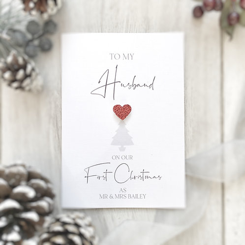 Our First Married Christmas Together Card