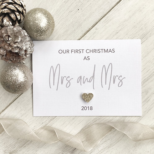 First Christmas Together as Mrs and Mrs