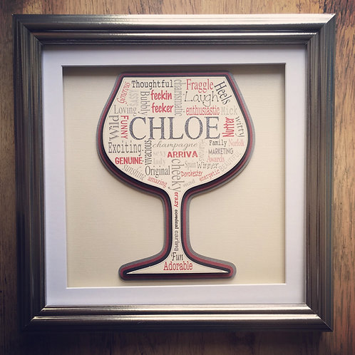 Wine Glass Gift Frame