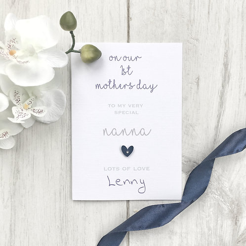 Mothers Day Card for First Mothers Day as Nanna