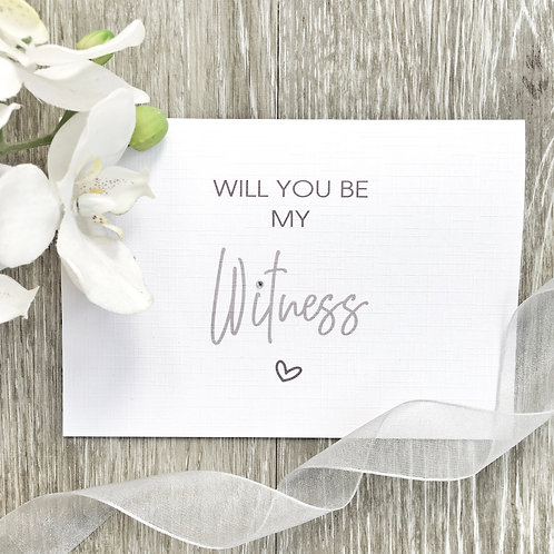 Will You Be My Witness Card