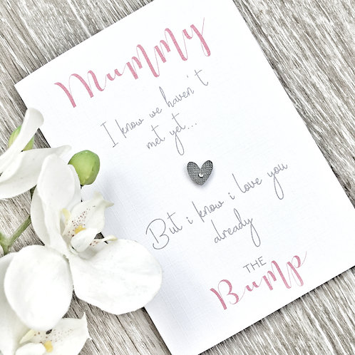 Mummy To Be Mothers Day Card - From The Bump