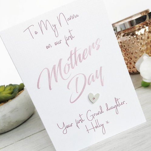 First Mothers Day Card for Nanna - Mothers Day Card