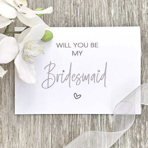 Will You Be My Bridesmaid - Proposal Card