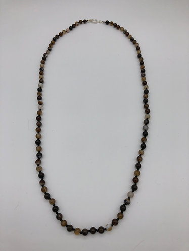 Coffee lace agate necklace