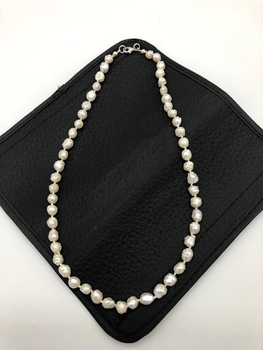 A baroque cultured pearl necklace