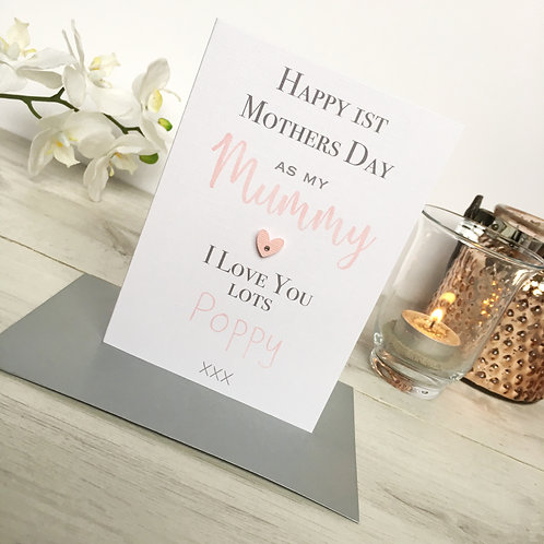 Mummy's 1st Mothers Day Card (Daughter)