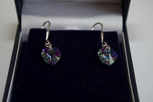 Swarovski crystal earrings with sterling silver hooks