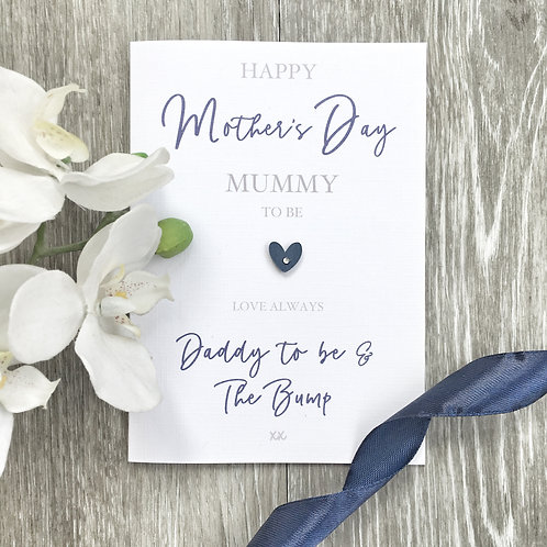 Mother's Day Card for Mummy to be - From Daddy to Be and The Bump