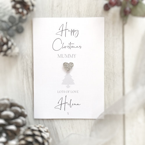 Personalised Christmas Card for Mummy