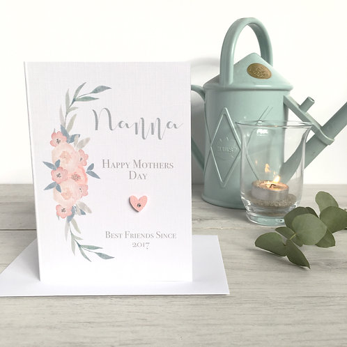 Watercolour Nanna Mothers Day Card