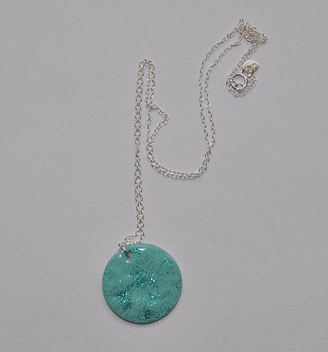 Enamelled pendant on copper