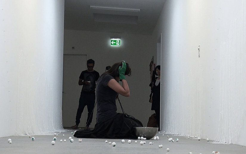 Installation and performance by Hetal Chudasama at Atelier Mondial