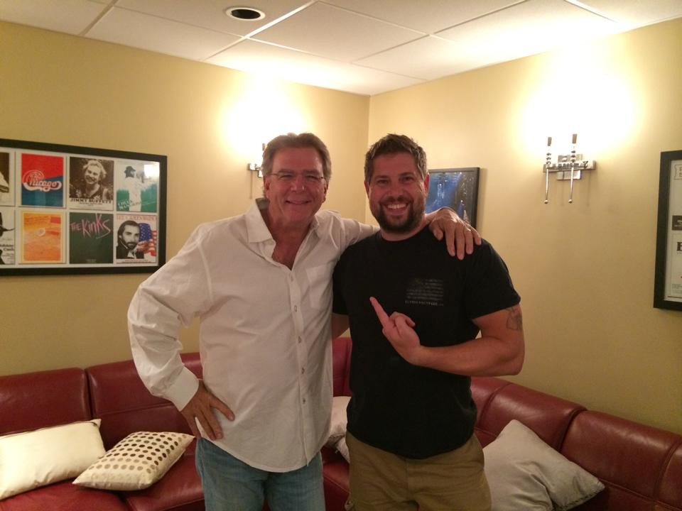 Backstage with Bill Engval at Westpoint Military Academy
